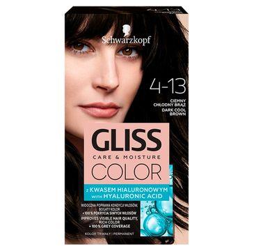 Gliss  – Color (krem koloryzujący nr 4-13 Ciemny Chłodny Brąz 1 op.)
