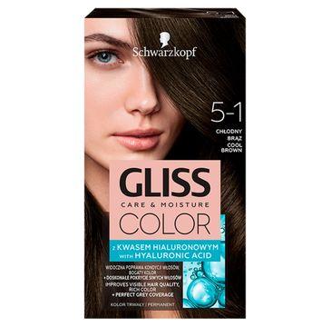 Gliss – Color (krem koloryzujący nr 5-1 Chłodny Brąz 1 op.)
