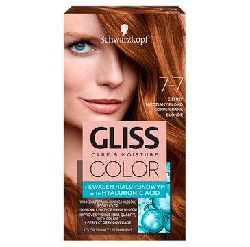 Gliss – Color (krem koloryzujący nr 7-7 Ciemny Miedziany Blond 1 op.)