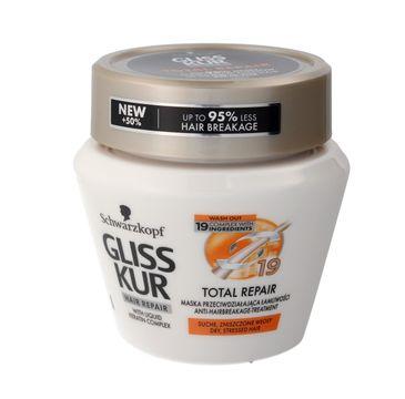 Gliss Kur Total Repair maska do włosów suchych i zniszczonych redukuje łamliwość 300 ml