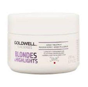 Goldwell Dualsenses Blondes & Highlights 60s Treatment regenerująca maseczka do włosów blond 200ml