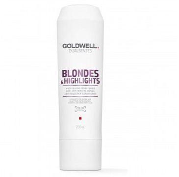 Goldwell Dualsenses Blondes & Highlights Anti-Yellow Conditioner odżywka do włosów blond neutralizująca żółty odcień 200ml