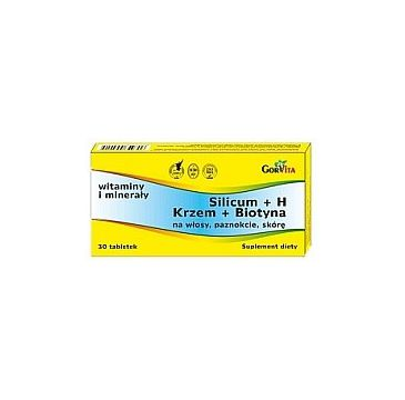 Gorvita Silicum + H krzem i biotyna suplement diety 30 tabletek