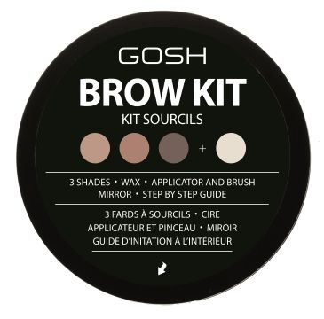 Gosh – Brow Kit zestaw do stylizacji brwi 001 (1 szt.)