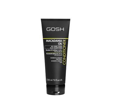 Gosh Macadamia Oil Conditioner odżywka do włosów z olejem macadamia (230 ml)