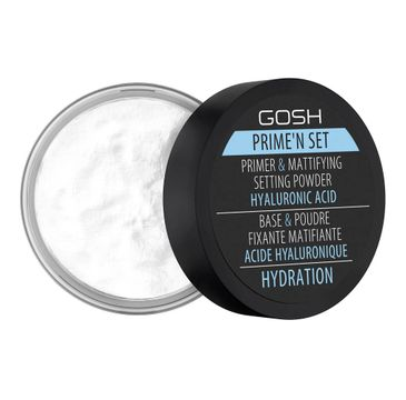 Gosh Prime'n Set Powder utrwalająco-matujący puder/baza 3w1 z kwasem hialuronowym 003 Hydration (7 g)