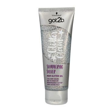 Got2b Glitter Glam żel do włosów z brokatem Srebrny 50 ml