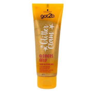 GOT2B Glitter Glam Żel do włosów z brokatem Złoty 50 ml
