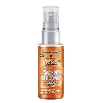 Got2B Go'N'Glow Hair & Body Spray koloryzuj膮cy do w艂os贸w i cia艂a z brokatem Bronze 50ml