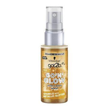 Got2B Go'N'Glow Hair & Body Spray koloryzujący do włosów i ciała z brokatem Gold 50ml