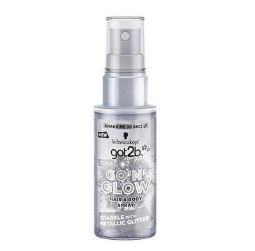 Got2B Go'N'Glow Hair & Body Spray koloryzujący do włosów i ciała z brokatem Silver 50ml