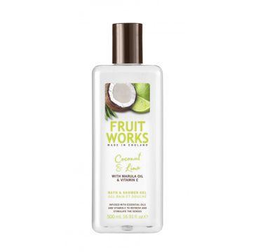 Grace Cole Fruit Works Bath & Shower Gel żel pod prysznic Coconut & Lime 500ml