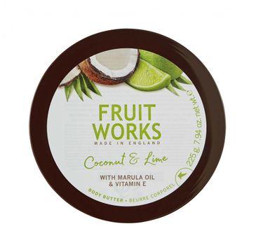 Grace Cole Fruit Works Body Butter masło do ciała Coconut & Lime 225g