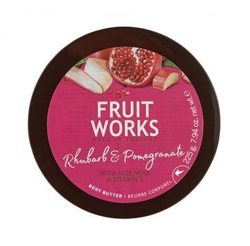 Grace Cole Fruit Works Body Butter masło do ciała Rhubarb & Pomegranate 225g