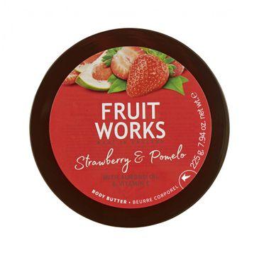 Grace Cole Fruit Works Body Butter masło do ciała Strawberry & Pomelo 225g