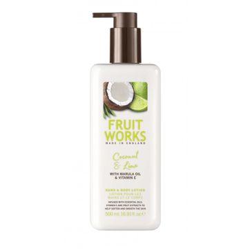 Grace Cole Fruit Works Hand & Body Lotion balsam do rąk i ciała Coconut & Lime 500ml