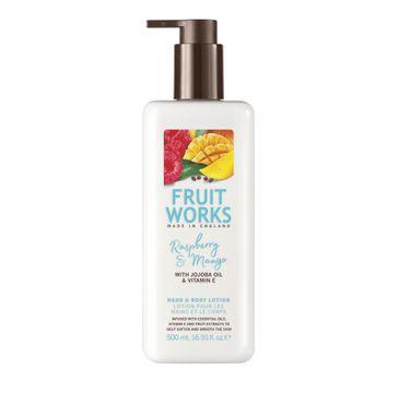 Grace Cole Fruit Works Hand & Body Lotion balsam do rąk i ciała Raspberry & Mango 500ml