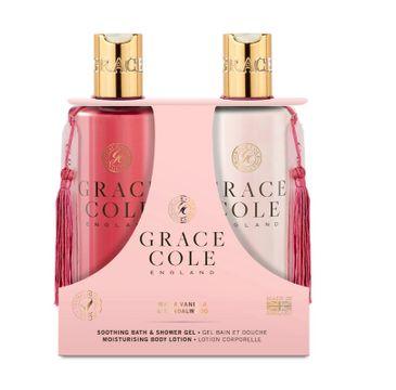 Grace Cole – Warm Vanilla & Sandalwood Body Care zestaw nawilżający balsam do ciała 300ml + łagodzący żel pod prysznic 300ml (1 szt.)