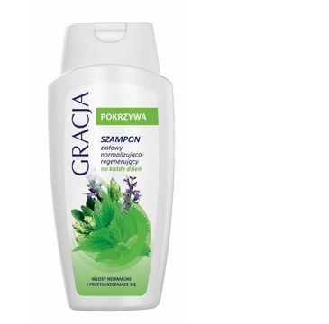 Gracja Pokrzywa szampon do każdego typu włosów ziołowy normalizująco-regenerujący 250 ml