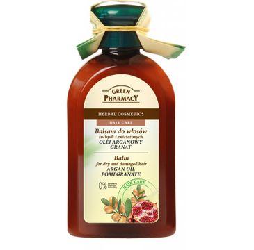Green Pharmacy balsam do włosów suchych z olejem arganowym i granatem 300 ml