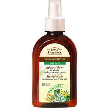 Green Pharmacy eliksir ziołowy do włosów łamliwych zniszczonych i farbowanych 250 ml
