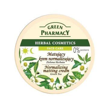 Green Pharmacy Herbal Cosmetics krem do twarzy normalizujący z zieloną herbatą 150 ml