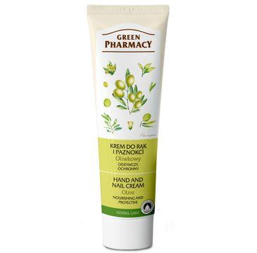 Green Pharmacy krem do rąk i paznokci oliwkowy odżywczy ochronny 100 ml
