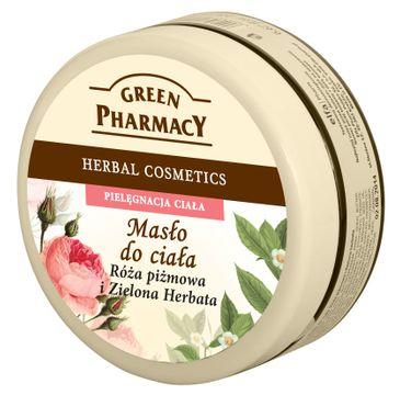 Green Pharmacy masło do każdego typu skóry róża piżmowa zielona herbata 200 ml