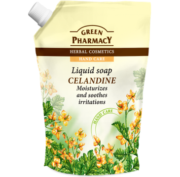 Green Pharmacy mydło do każdego typu skóry w płynie Jaskółcze Ziele 465 ml