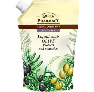 Green Pharmacy mydło do każdego typu skóry w płynie zapas oliwka 465 ml