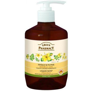 Green Pharmacy mydło w płynie kojące jaskółcze ziele 465 ml