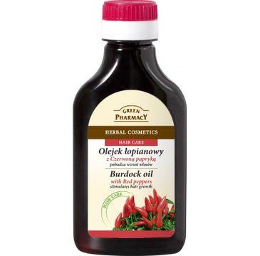 Green Pharmacy olejek łopianowy z czerwoną papryką na wzrost włosów 100 ml