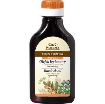 Green Pharmacy olejek 艂opianowy z olejkiem arganowym odbudowuj膮cy 100 ml