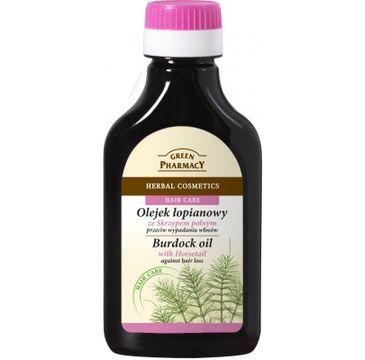 Green Pharmacy olejek 艂opianowy ze skrzypem polnym przeciw wypadaniu w艂os贸w 100 ml