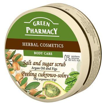 Green Pharmacy peeling cukrowo solny do każdego typu skóry olej arganowy figi 300 ml