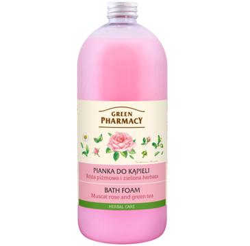 Green Pharmacy pianka do kąpieli róża piżmowa & zielona herbata (1000 ml)