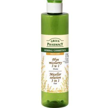 Green Pharmacy Płyn micelarny 3w1 do twarzy z ekstraktem z owsa 250 ml
