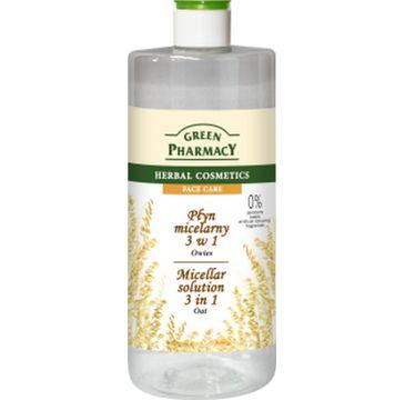 Green Pharmacy Płyn micelarny 3w1 do twarzy z ekstraktem z owsa 500 ml