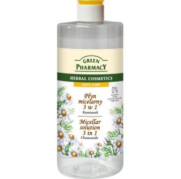 Green Pharmacy Płyn micelarny 3w1 do twarzy z ekstraktem z rumianku 500 ml