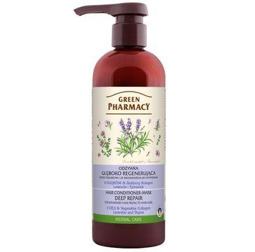 Green Pharmacy – Regenerująca odżywka do włosów osłabionych Lawenda i Tymianek (480 ml)