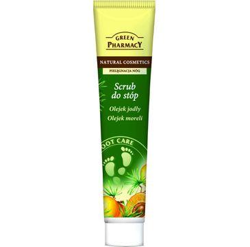 Green Pharmacy scrub do stóp olejek jodły i moreli wygładzający 100 ml