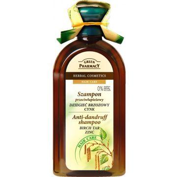 Green Pharmacy Szampon do włosów przeciwłupieżowy dziegieć cynk (350 ml)