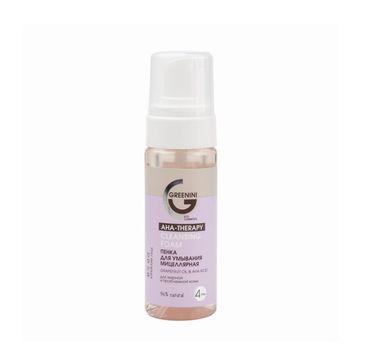 Greenini AHA Therapy Cleansing Foam micelarna pianka do mycia twarzy (150 ml)