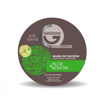 Greenini – Aloe & Keratin Mask odbudowująca maska do włosów Aloes & Keratyna (200 ml)
