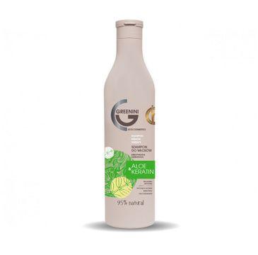 Greenini Aloe & Keratin Shampoo odbudowujący szampon do włosów Aloes i Keratyna (500 ml)
