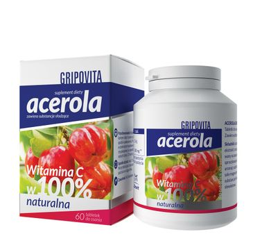 Gripovita Acerola suplement diety tabletki do ssania (60 tabletek)
