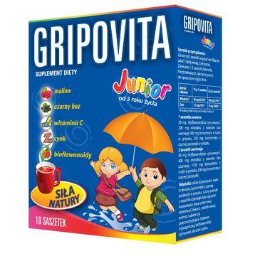 Gripovita Junior suplement diety dla dzieci herbatka 1 op. - 10 saszetek