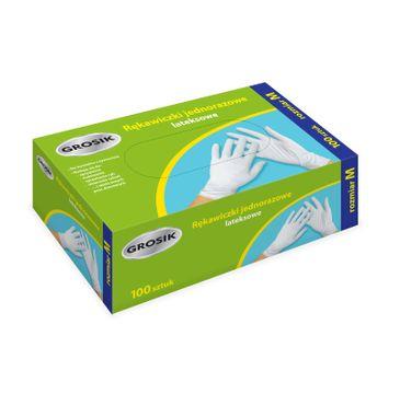 Grosik rękawiczki lateksowe M /100 szt.