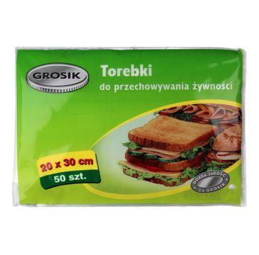 Grosik torebki do przechowywania żywności 20 x 30 cm 1 op. - 50 szt.