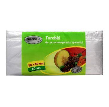 Grosik torebki do przechowywania żywności 30 x 50 cm 1 op. - 50 szt.